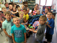 Mrs  Wiedenhaupt and her 4th grade class at Valley Christian School in Oshkosh